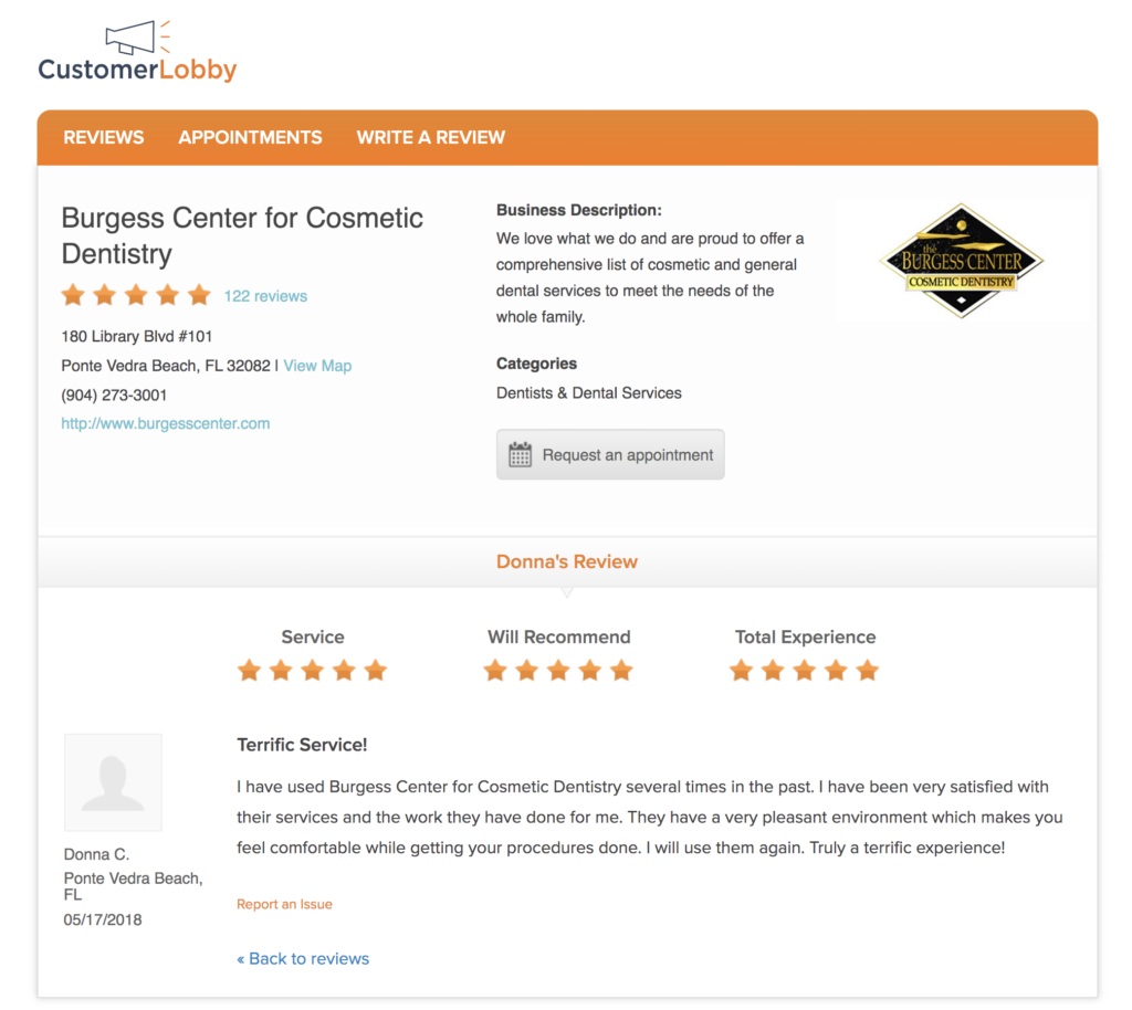 cosmetic dentist reviews